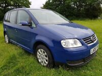 2006 VW Touran 1.6 Petrol 5-seater, with new clutch and gearbox, for sale.