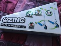 Brand new 2 in 1 TRI to in-line scooter all boxed & sealed