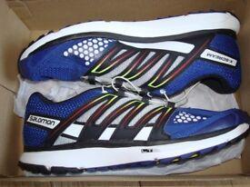 Salomon X-Scream blue trainers size UK 8 new with box