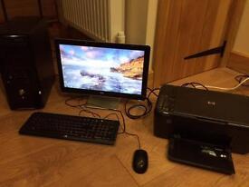 Computer, Monitor and Printer