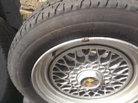 Classic BMW wheels and tyres good condition