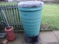 TWO GARDEN WATER BUTTS