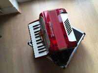 Italian made Universal accordion plus sturdy case
