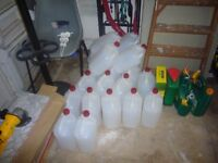 50 X JOBLOT 5 Litre Plastic Jerry Can Bottle Water Container ( NEED AWAY ASAP )