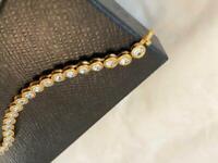 Swarovski Crystal gold plated tennis bracelet