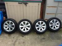"Genuine Mercedes c class w204 alloys with tyres 16"" 5x112"