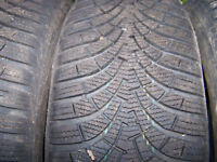 4 Winter Tyres. Goodyesr Ultragrip 205/55R16, used for one winter only. One tyre requires tube.