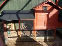 Used chicken coop abd chicken plus accessories