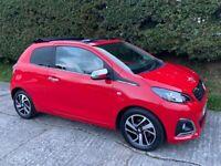 2016 Peugeot 108 Allure Top 1.2 3dr (£0 road tax)