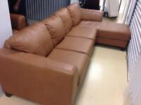 Gorgeous Brown Leather Sectional