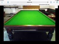 Full size snooker table. 12x6.
