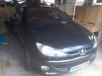 Peugeot 206CC Black spares or repair
