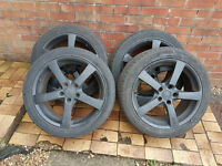 18 inch alloy wheels and tyres Toyota Honda 5 x 114.3 fitment