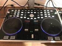 Vestax vci300 Serato controller -fx unit - decksaver cover and backpack