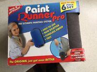 Wall Paint Roller Brush Handle Pro Flocked Edger Room Painting Runner