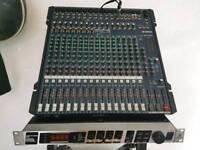 Electro voice elx 115p ×2 +yamaha mg 16 USB mixer plus effects processor