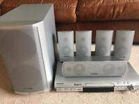 Panasonic Surround Sound with DVD / CD Player, Sub-Woofer and 5 speakers
