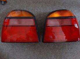 Original MK3 Golf rear lights (Incl: bulb holders)