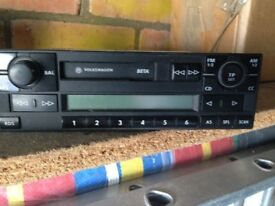 vw beta radio cassette