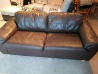 Two seats leather sofa