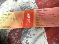 2 mamma mia tickets £80 for both