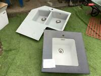 2 NEW UNUSED FRANKI SINKS, dusty from storage, KINDLY donated for local cancer charity funds🙏