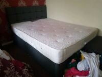 USED King Size BED SET. Mattress Medium to Firm. Clean. Bed & Mattress See Photos £60 BARGAIN CHEAP
