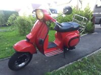 Lml star 125 same as Vespas lovely scooter with extras