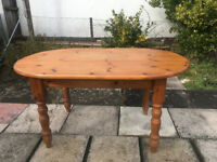 Farmhouse solid pine dining table and 5 chairs