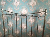 Gorgeous victorian / vintage / antique brass style metal double bed frame