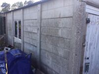 Concrete Garage Sectional Shed. To Be Dismantled By Buyer