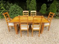 Barker & Stonehouse Flagstone Dining Table With 8 Chairs