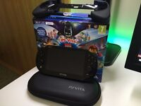 PS VITA Slim Black with 8GB Memory Card (Case, Controller, Thumbgrips)