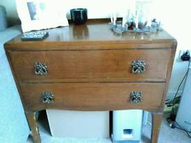 Chest of drawers or dresser. Solid construction. Vintage piece ready for upcycling.