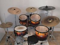 Pearl ELX Drum Kit with cymbals