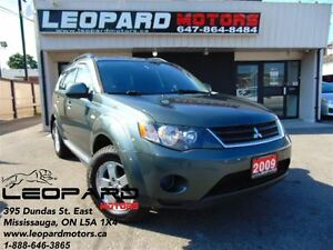2009 Mitsubishi Outlander LS, AWD, 7 PASSENGER, NO ACCIDENT