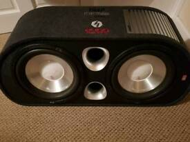 Fit trap ft12ta f6 12 inch 2400W Twin active amplified car sub.