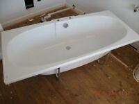 Twyford Bath plus side panel plus splashback with mounting cradle