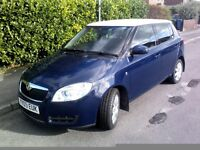2009 SKODA FABIA, BLUE/ WHITE ROOF , HIGH SPEC ,SPECIAL EDITION, IMMACULATE 1.2 petrol 70, 12 VALVE