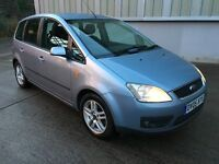 Stunning 2005 05 Ford Focus Cmax 1.8Zetec MPV **2 Owners+Only 74000+Mot May 2017+Mega Spec**