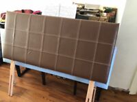 Leather headboard for double divan bed immaculate