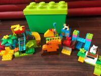 200+ duplo lego pieces with box