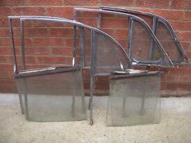 Morris Minor stainless steel door tops
