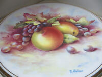 Decorative Vintage Plate Royal Vale - Fruit Design Signed D Wallace Display Plate