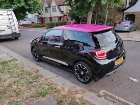 Citroen DS3 1.6 THP DSport Pink 3dr Car - Black and Pink