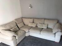 Cream corner sofa for sale
