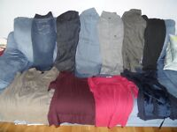 LOT OF 10 MATERNITY CLOTHES - NEXT PETITE trousers & Jeans tops H&M, Mamas & Papas & GAP Cost £200+