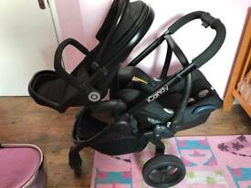 I candy peach 3 blossom, carrycot, pushchair, carseat, elevators, adaptors, raincovers