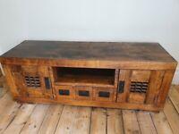 Rustic Dark wood TV Stand