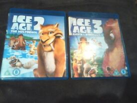 ice age blu ray ice age 2 and ice age 3 boxed clean disc